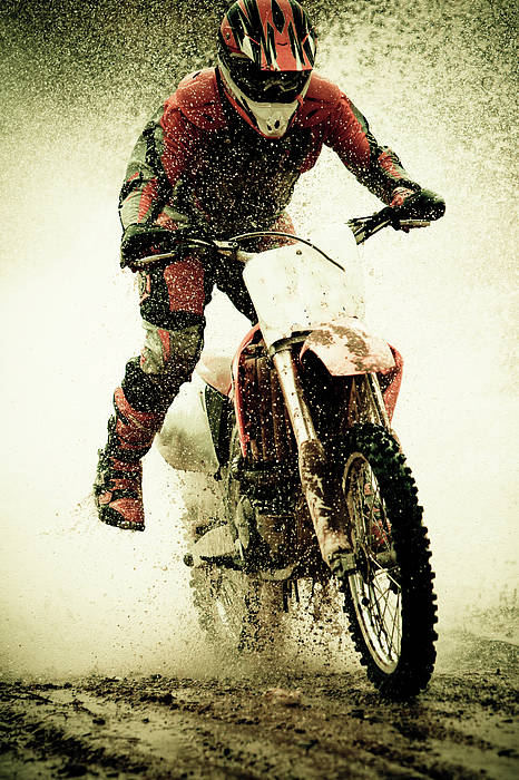 Vertical Poster featuring the photograph Dirt Bike Rider by Thorpeland Photography