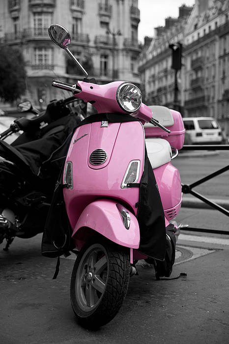Vespa Poster featuring the photograph Vespa In Pink by Edward Myers