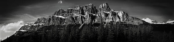 Horizontal Poster featuring the photograph Castle Mountain Panoramic by Brent Mooers