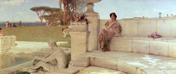 The Poster featuring the painting The Voice Of Spring by Sir Lawrence Alma-Tadema
