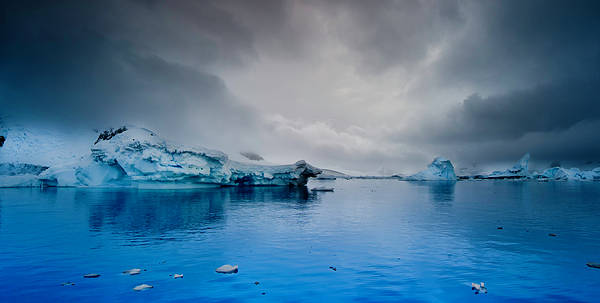 Horizontal Poster featuring the photograph Antarctic Iceberg by Michael Leggero