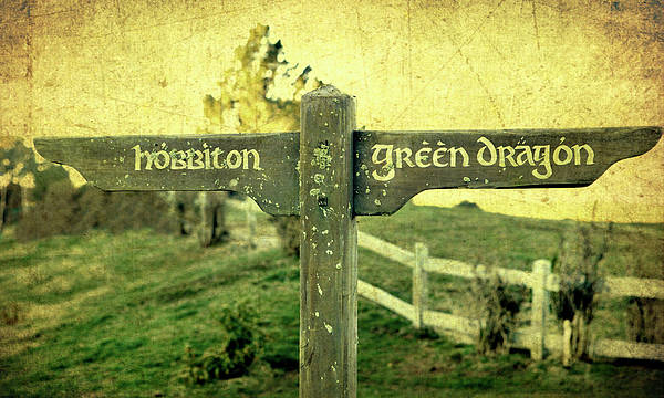 Hobbiton Poster featuring the photograph Hobbiton Signage by Linde Townsend