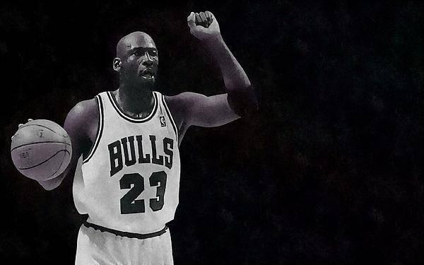 Basketball Poster featuring the painting Michael Air Jordan by Florian Rodarte