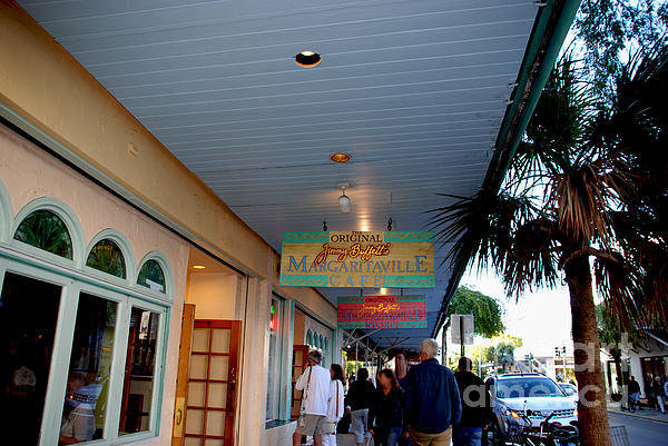 Key West Poster featuring the photograph Jimmy Buffet's Margaritaville Key West by Susanne Van Hulst