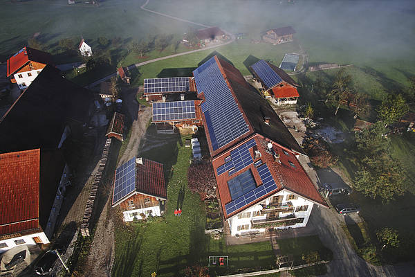 Outdoors Poster featuring the photograph A Farm In Bavaria With Solar by Michael Melford