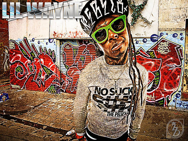 Little Wayne Poster featuring the digital art Street Phenomenon Lil Wayne by The DigArtisT