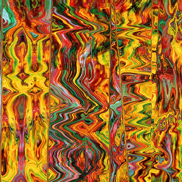 Abstract Poster featuring the digital art Hot Lava by Gae Helton