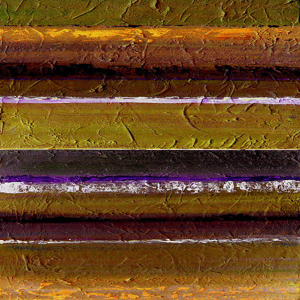 Abstract Poster featuring the painting Lined Up by Ruth Palmer