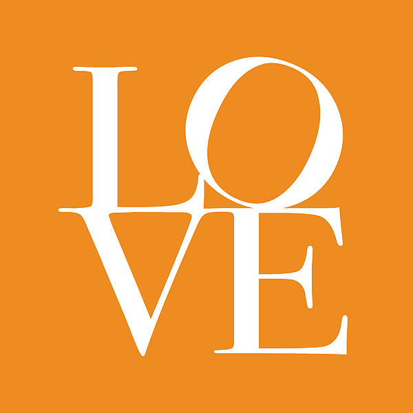 Love Poster featuring the digital art Love In Orange by Michael Tompsett