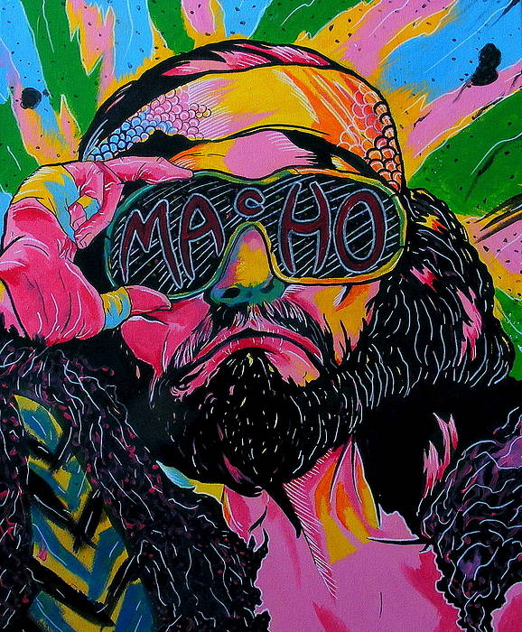 Tribute To Wwe/wwf Legend Macho Man Randy Savage Poster featuring the painting Macho Man by Brian Typhair