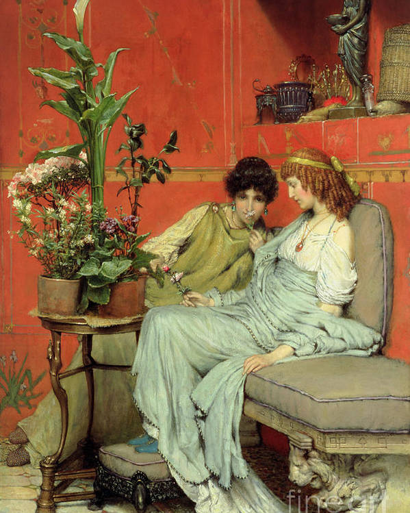 Confidences Poster featuring the painting Confidences by Sir Lawrence Alma-Tadema