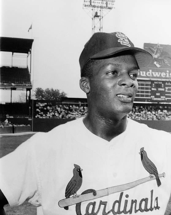 1959 Poster featuring the photograph Curt Flood (1938- ) by Granger