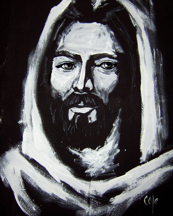 Face Poster featuring the painting Face Of Christ Ccsa by Larry Cole