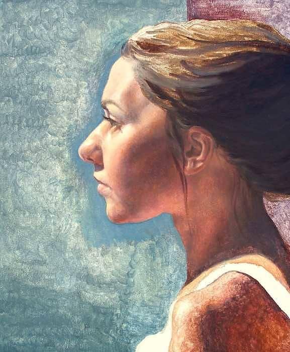 Portrait Poster featuring the painting Fresh Pose by Deborah Allison