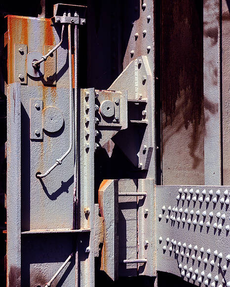 Abstract Poster featuring the photograph Industrial Background by Carlos Caetano