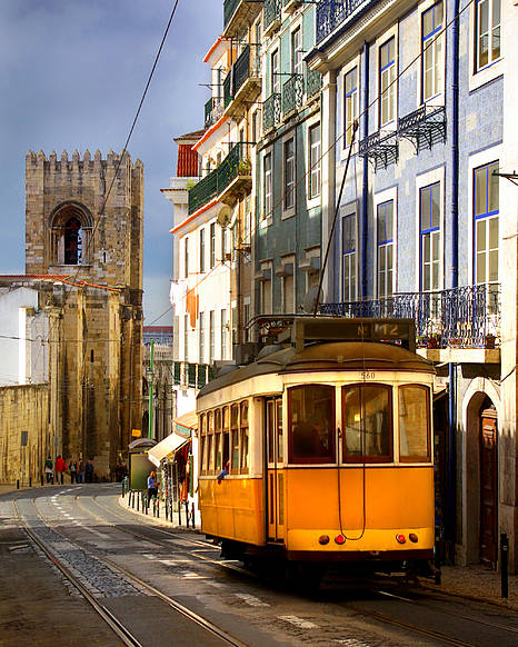 Ancient Poster featuring the photograph Lisbon Tram by Carlos Caetano