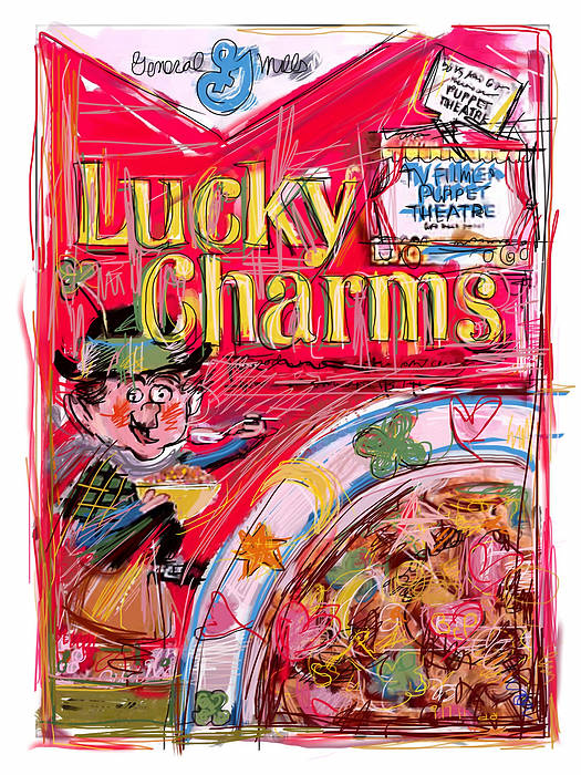 Lucky Charms Poster featuring the mixed media Lucky Charms by Russell Pierce