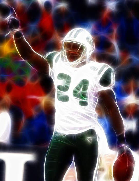 Darrelle Revis Poster featuring the painting Magical Darrelle Revis by Paul Van Scott