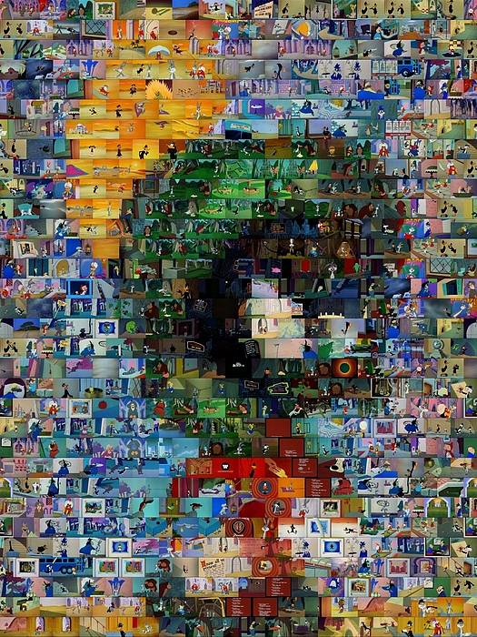 Marvin Poster featuring the digital art Marvin The Martian Mosaic by Paul Van Scott
