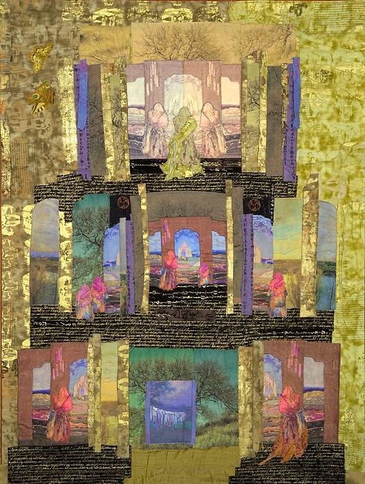Quilt Poster featuring the tapestry - textile Prayers For Peace by Roberta Baker