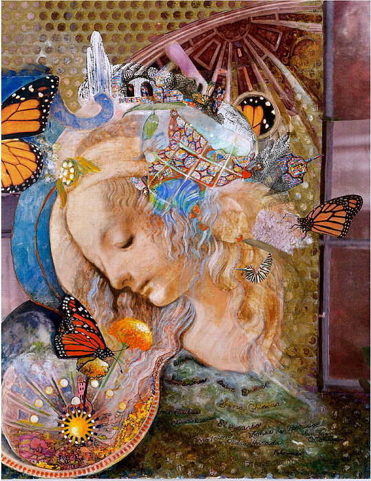Collage Poster featuring the mixed media Sanctuary by Diane Woods