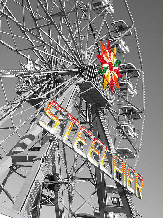 Steel Pier Poster featuring the photograph Steel Pier by Heather Weikel