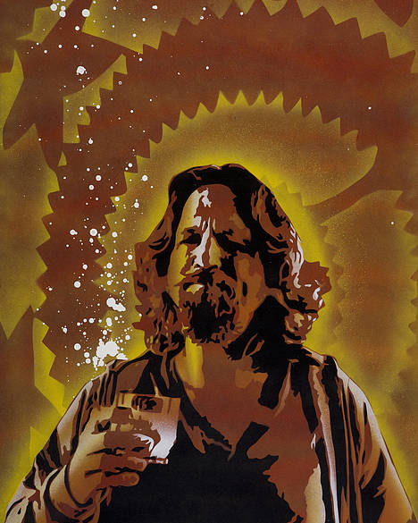 Pop Poster featuring the painting The Dude by Tai Taeoalii