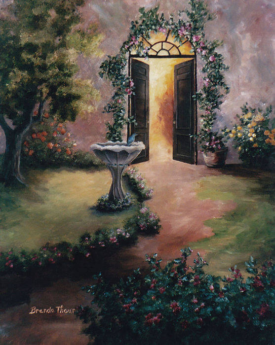 Flower Poster featuring the painting Welcoming Light by Brenda Thour