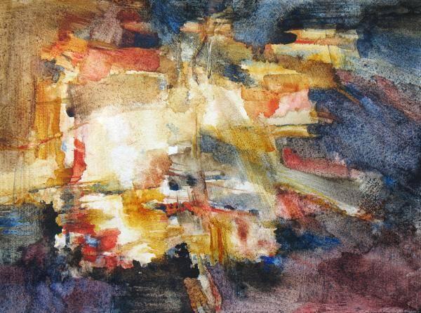 Abstract Art Print featuring the painting Illumination by Juanita Hagberg