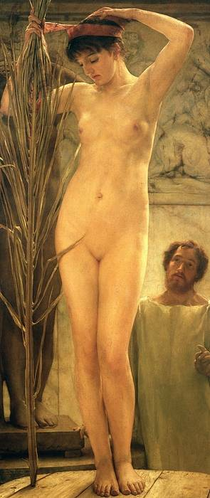 Nude Art Print featuring the painting The Sculptor's Model by Sir Lawrence Alma-Tadema