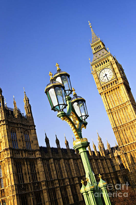 Big Print featuring the photograph Big Ben And Palace Of Westminster by Elena Elisseeva