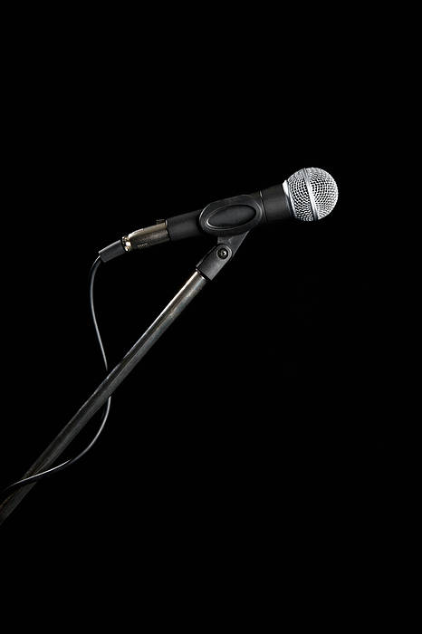 Vertical Art Print featuring the photograph A Microphone by Antenna