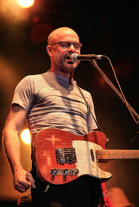 Gord Art Print featuring the photograph Gord Downie With Telecaster by David McDonald