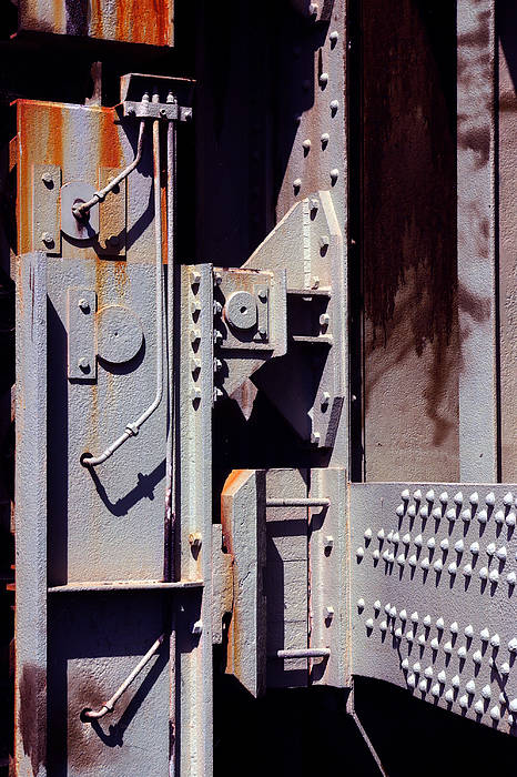 Abstract Art Print featuring the photograph Industrial Background by Carlos Caetano