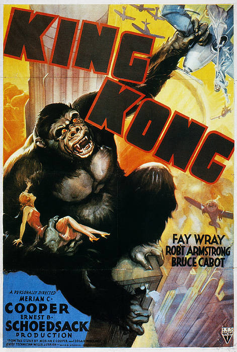 1933 Print featuring the photograph King Kong Poster, 1933 by Granger