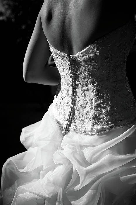 Adult Print featuring the photograph Rear View Of Bride by John B. Mueller Photography