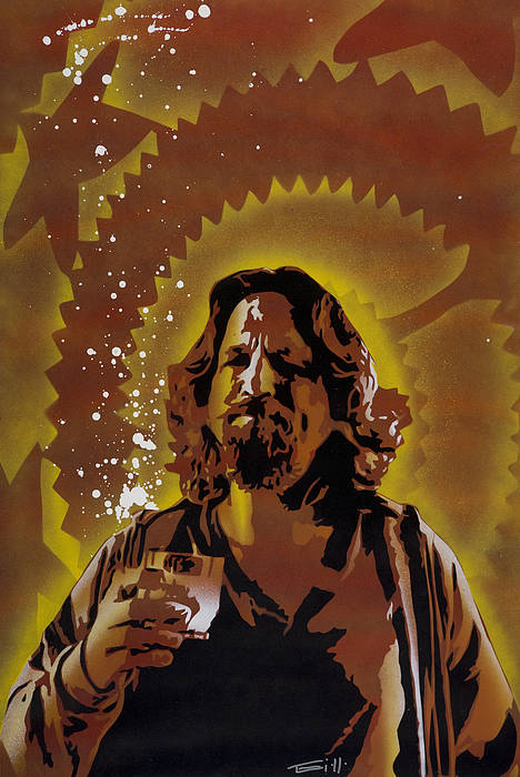 Pop Art Print featuring the painting The Dude by Tai Taeoalii
