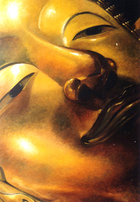 Oil Art Print featuring the painting Virtue by Chonkhet Phanwichien