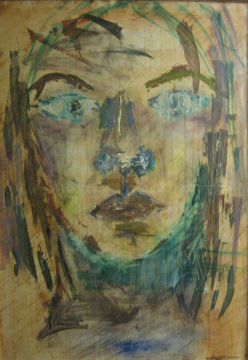 Self Portrait Art Print featuring the painting Self Portrait by AmyJo Arndt