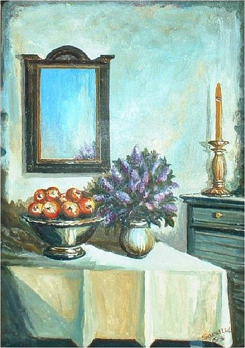Stil Life Art Print featuring the painting Old Memories 2 by Sinisa Saratlic