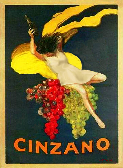 Cinzano Art Print featuring the photograph Cinzano Girl by Nick Diemel