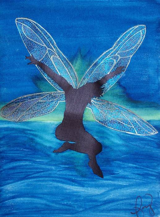 Fairy Art Print featuring the painting Elation by Amy Lauren Gettys