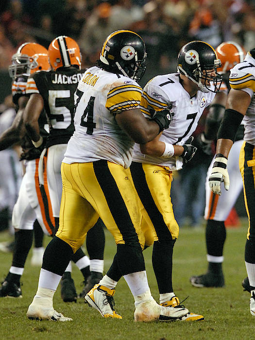 Ben Roethlisberger Art Print featuring the photograph Pittsburgh Steelers V  Cleveland Browns by Diamond Images 6c5b82f76