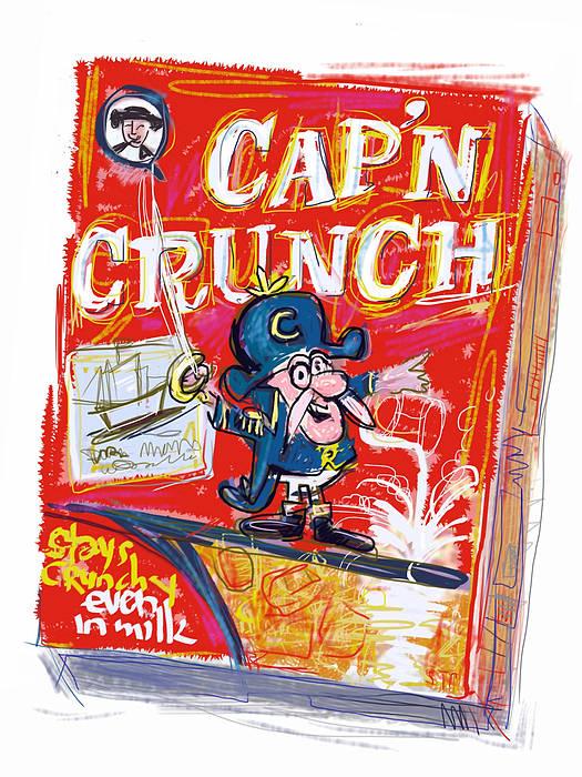Cap'n Crunch Art Print featuring the mixed media Capn Crunch by Russell Pierce