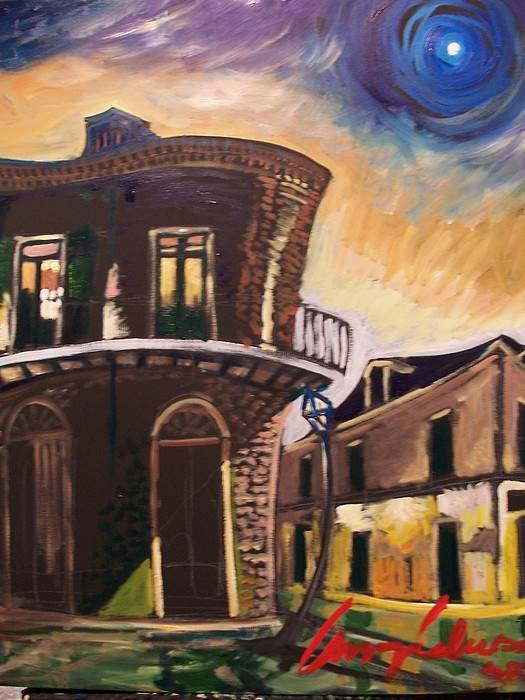 Cityscape Art Print featuring the painting Royal St Sunrise by Amzie Adams
