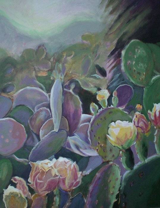 Cactus Art Print featuring the painting Desert Life by Aleksandra Buha