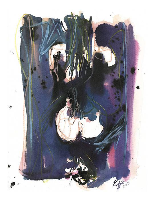 Figure Art Print featuring the painting Kneeling by Robert Joyner