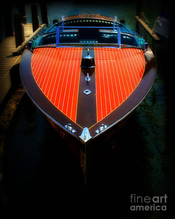 Boat Art Print featuring the photograph Classic Wooden Boat by Perry Webster