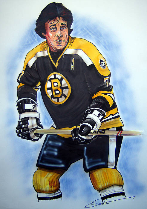 Nhl Art Print featuring the painting Phil Esposito by Dave Olsen