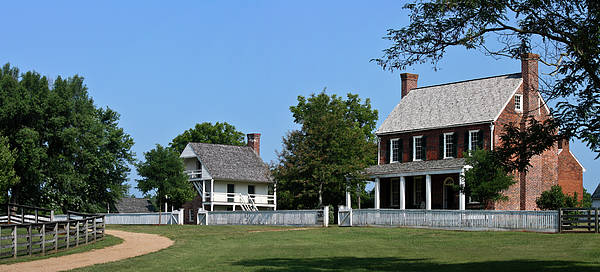 Appomattox Print featuring the photograph Clover Hill Tavern Appomattox Court House Virginia by Teresa Mucha